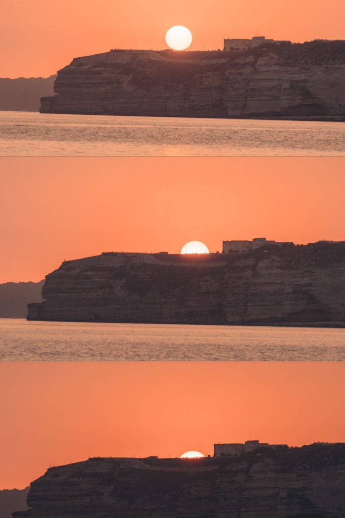 plage des trois pointes zachód słońca korsyka
