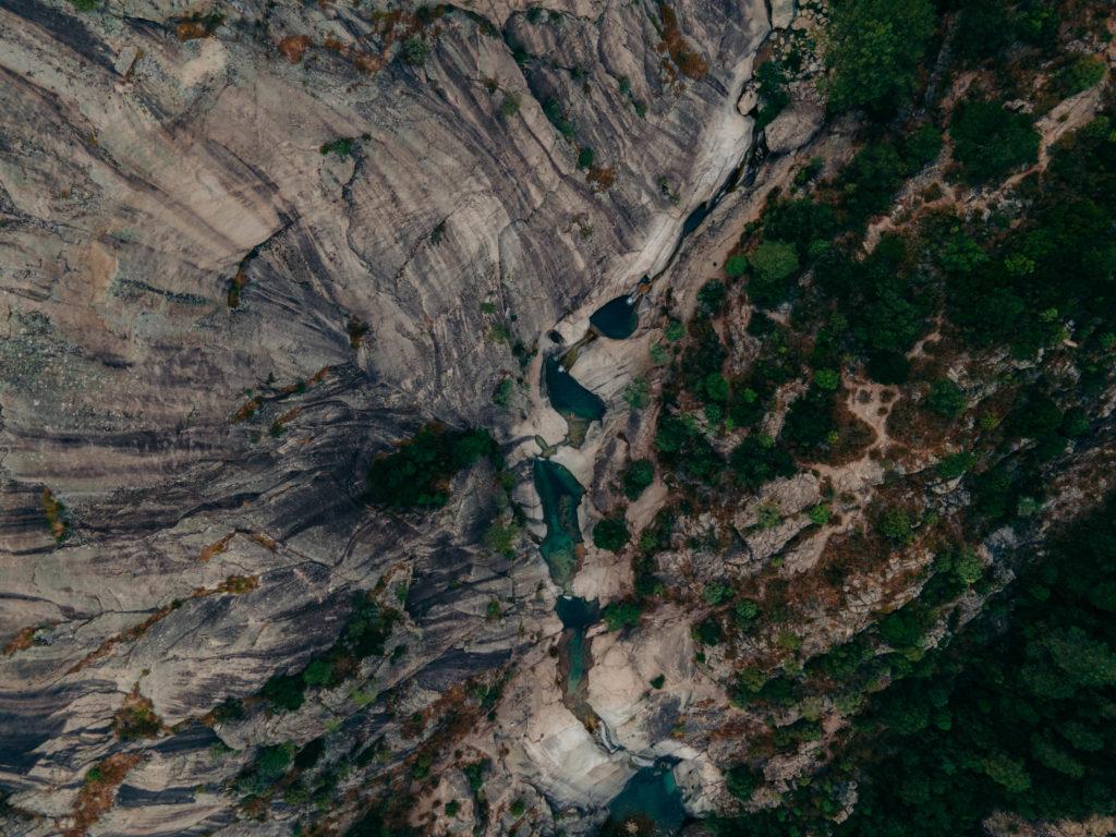 cascades de purcaraccia z drona korsyka