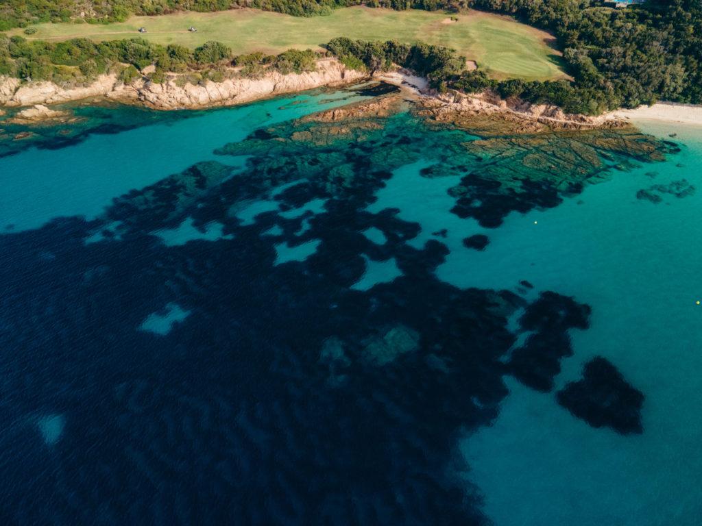 plage du grande sperone z drona najlepsze plaże na korsyce