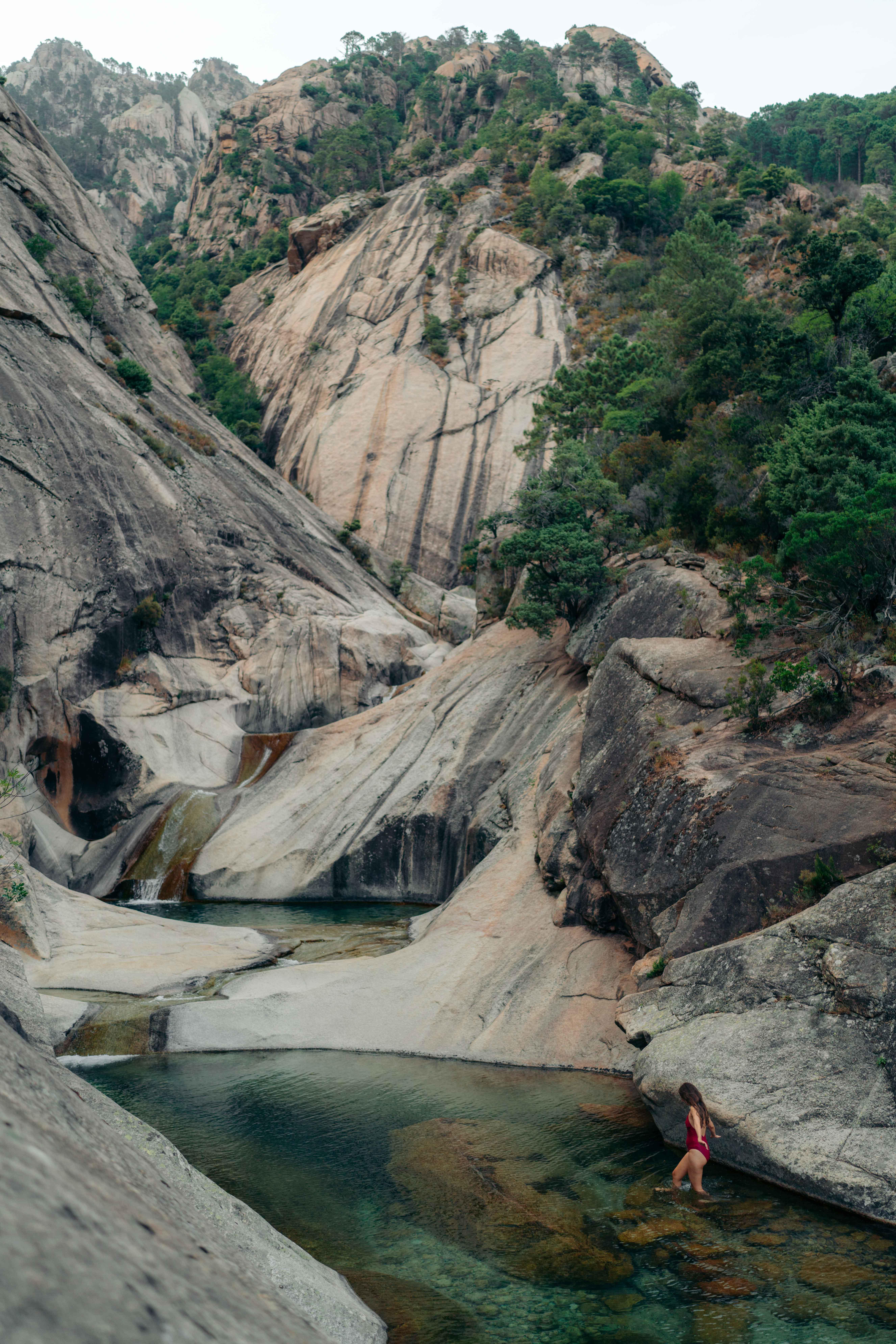 cascades de purcaraccia korsyka co zobaczyć