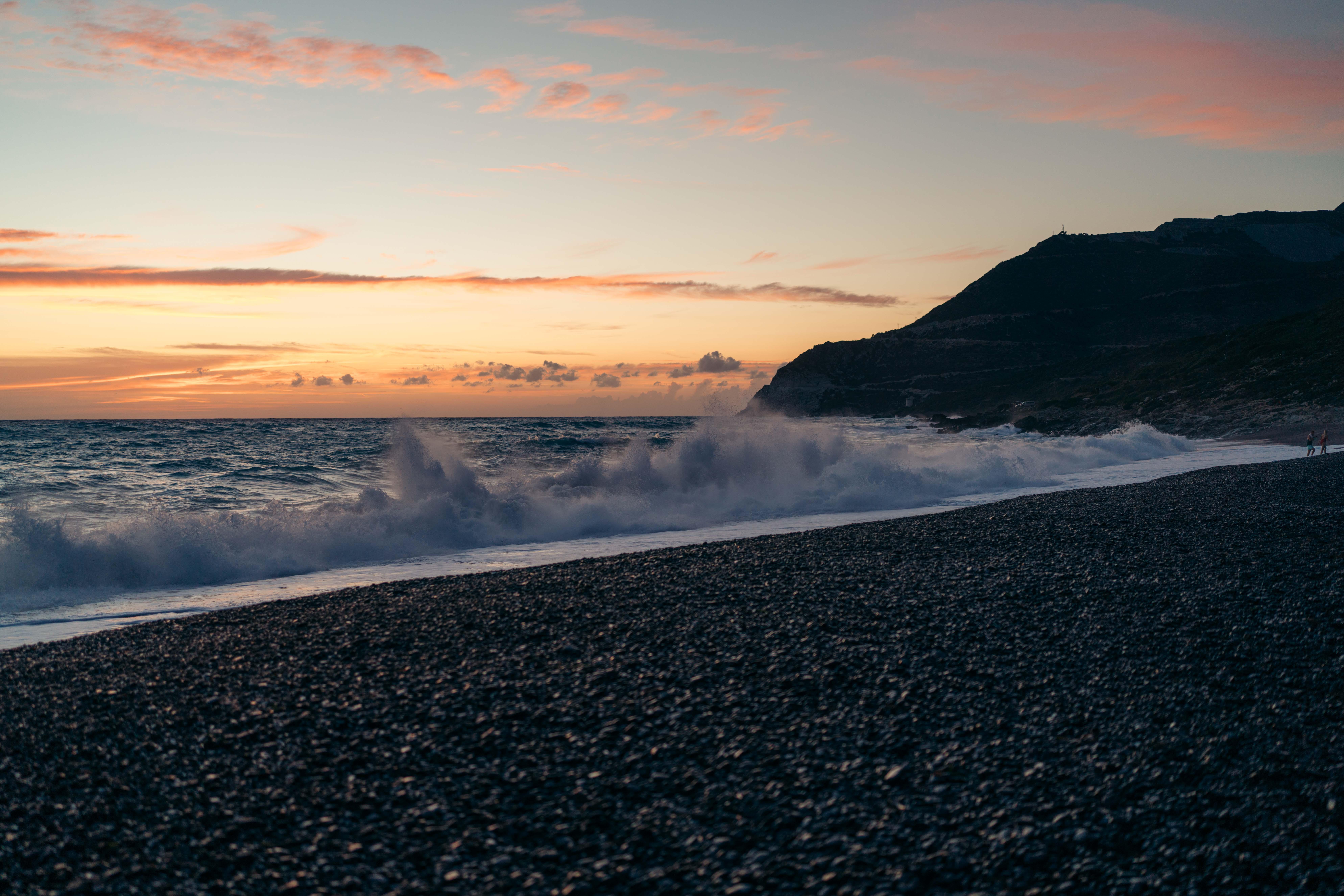 plage de nonza zachód słońca cap corse